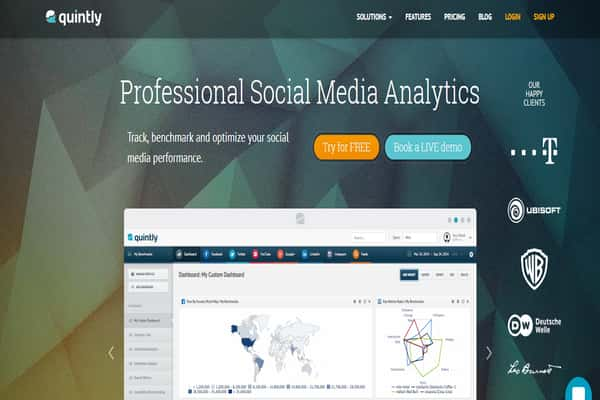 social media marketing companies in nigeria tools quintly